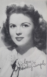1940's Shirley Temple Exhibit Card Made in The USA  #*