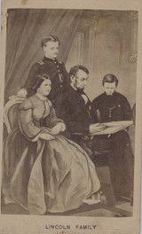 1870's Abe Lincoln & Family 2 1/2 By 4 Inch