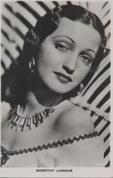 1940's Postcard Dorothy Lamour Portrait  #*