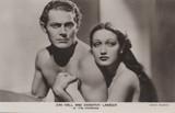 1937 Postcard FS121 Dorothy Lamour & Jon Hall The Hurricane  #*