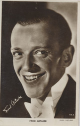 1940's Postcard 113A Fred Astaire Has Staple Holes At Top  #*