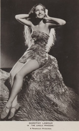 1930's Postcard FS116 Dorothy Lamour In The Jungle Princess  #*