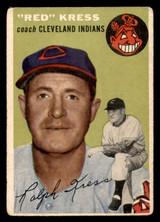 1954 Topps #160 Red Kress CO G-VG