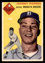 1954 Topps #166 Johnny Podres Poor  ID: 312132