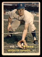1957 Topps #30 Pee Wee Reese Poor