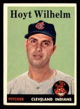 1958 Topps #324 Hoyt Wilhelm UER Excellent  ID: 312279
