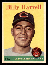 1958 Topps #443 Billy Harrell Very Good RC Rookie SP