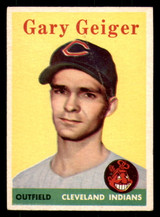 1958 Topps #462 Gary Geiger Excellent+ RC Rookie SP