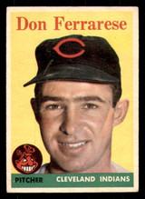 1958 Topps #469 Don Ferrarese UER Very Good  ID: 312285
