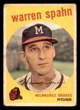 1959 Topps #40 Warren Spahn ERR Good