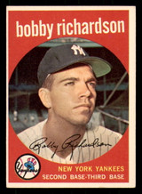 1959 Topps #76 Bobby Richardson Excellent+  ID: 312287
