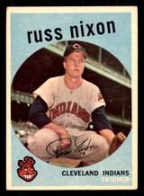 1959 Topps #344 Russ Nixon Excellent  ID: 312292