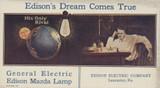1900s Edison Electric Company (Blotter) Thomas Edison Vg-Ex  #*