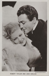 1930s British Postcard No P.216 Robert Taylor & Jean Harlow Ex-Mt  #*