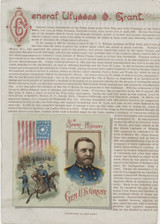 1889 N78 History Of Generals Booklets Cut Page  #*