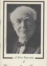 1930's THOMAS ALVA EDISON A BRIEF BIOGRAPHY 30 PAGES+  #*