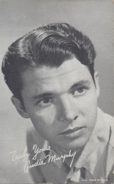 1950s AUDIE MURPHY EXHIBT CARD MADE IN USA  #*