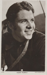 1950s AUDIE MURPHY POST CARD D115 FROM ENGLAND  #*