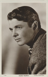 1950s AUDIE MURPHY POST CARD D398 FROM ENGLAND  #*