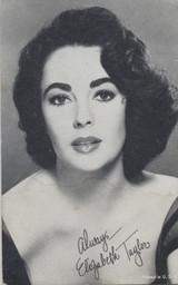 1950 EXIBIT CARD ELIZABETH TAYLOR  #*