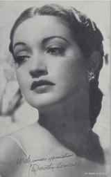 1950 EXIBIT CARD DOROTHY LAMOUR  #*