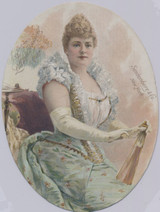 1890s Lillian Russell La Florde Cigars Facing Right  #*