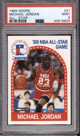 1989-90 Hoops #21 Michael Jordan AS PSA 9 Mint  ID: 312344