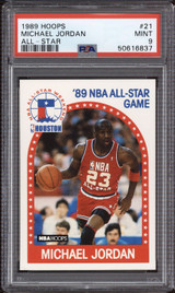 1989-90 Hoops #21 Michael Jordan AS PSA 9 Mint  ID: 312346
