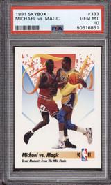 1991-92 SkyBox #333 Michael Jordan/Magic Johnson PSA 10 Gem Mint