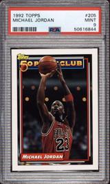 1992-93 Topps #205 Michael Jordan 50P PSA 9 Mint  ID: 312365