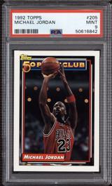 1992-93 Topps #205 Michael Jordan 50P PSA 9 Mint  ID: 312367