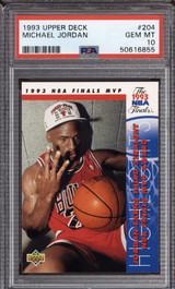 1993-94 Upper Deck #204 Michael Jordan FIN PSA 10 Gem Mint