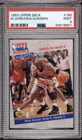 1993-94 Upper Deck #180 Michael Jordan/Stacey Augmon PO PSA 9 Mint  ID: 312374