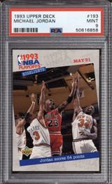 1993-94 Upper Deck #193 Michael Jordan PO PSA 9 Mint