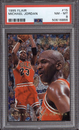 1995-96 Fleer Flair #15 Michael Jordan PSA 8 NM-Mint