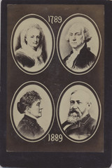 1789-1889 Washington-Harrison Presidential Cabinet Card 4 1/4 by 6 3/8 Inches  #*