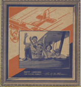 1935 Wheaties Card Panel The Flying Nathinson Family 6 by 6 1/2 inches   #*