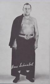 1947/66 Wrestling Exhibits Hans Schmabel  #*