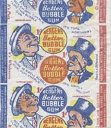 1930'S BERGEN'S BETTER BUBBLE GUM 1 CENT WRAPPER  #*