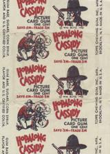 1950 Topps Hopalong Cassidy 1 Cent Wrapper  White  #*