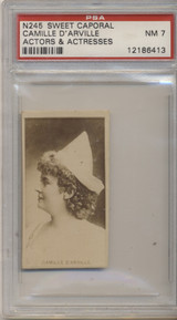 1887's N245 Actors & Actresses Sweet Caporal Camille D'Arville PSA 7 NM  #*