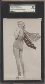 1950's Exhibit Card Marilyn Monroe SGC 80 EX/MT 6 #*