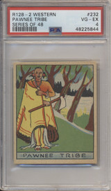 1933 R128-2 Western Series Of 48 #232 Pawnee Tribe PSA 4  #*