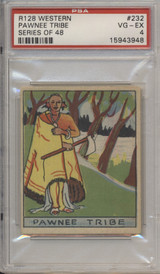 1933 R128-2 Western Series Of 48 #232 Pawnee Tribe PSA 4  #*#