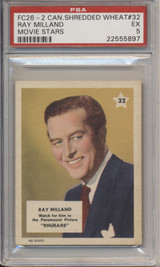 1951 Canada Shredded Wheat Co FC26-2 Movie Stars 32 Ray Millard #*