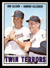 1967 Topps #334 Bob Allison/Harmon Killebrew Twin Terrors VG-EX  ID: 312395