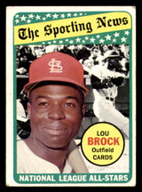 1969 Topps #428 Lou Brock AS Very Good  ID: 312423