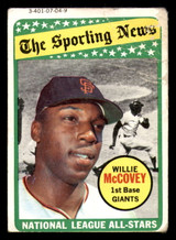 1969 Topps #416 Willie McCovey AS Poor