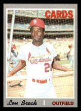 1970 Topps #330 Lou Brock Ex-Mint  ID: 312486