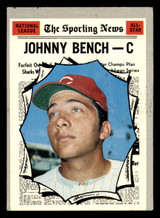 1970 Topps #464 Johnny Bench All-Star Very Good